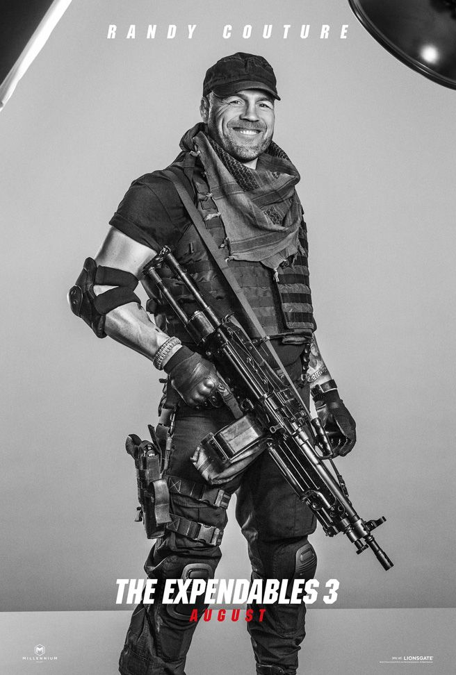 Expendables 3: New Roll Call Video Release and 16 Character Posters! - Randy Couture