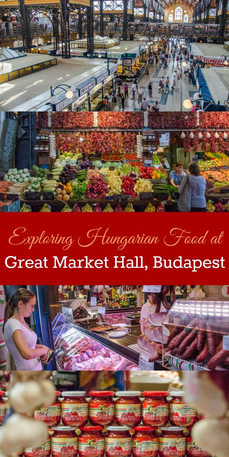 The most delicious thing to do in Budapest: Take a food tour in Budapest, Hungary. Visit the stunning Grand Market Hall to sample the best Hungarian ingredients, beverages, and foods.