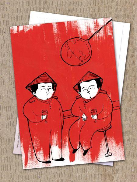 """Postkarte """"kurze Pause"""" von Granatapfel - Onlineshop mit Illustriertem. auf DaWanda.com"""
