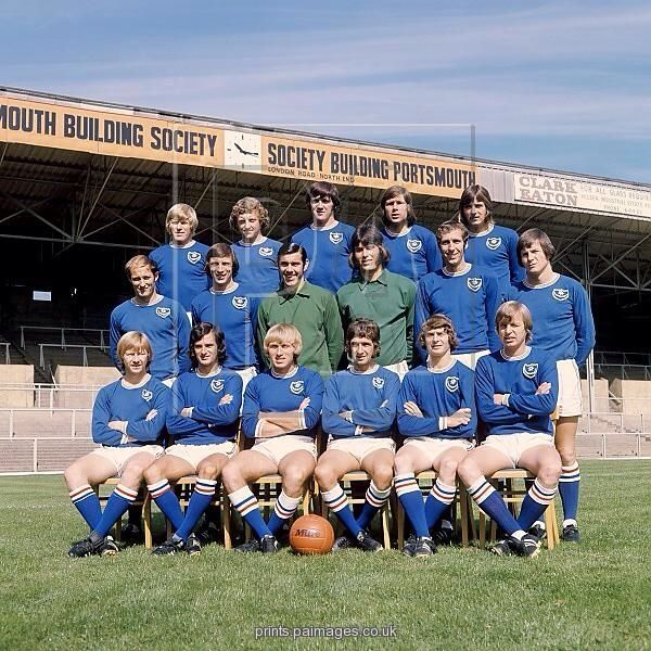Portsmouth team group in 1972.