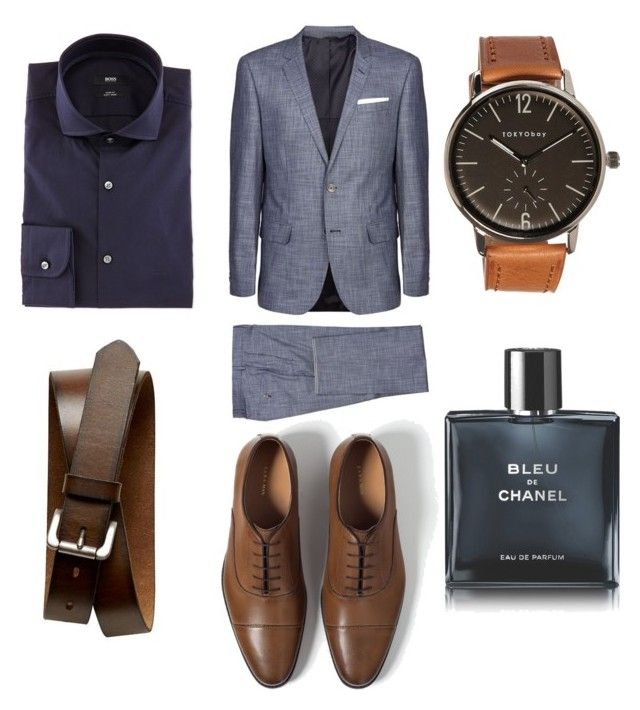 """Elegant outfit"" by mihai-cosmin on Polyvore featuring BOSS Hugo Boss, Zara, TOKYObay, Banana Republic, Chanel, men's fashion and menswear"