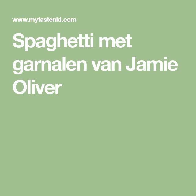Spaghetti met garnalen van Jamie Oliver