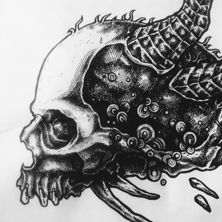 Black ink drawing // 015