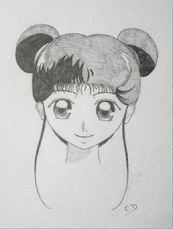 Dessin manga shojo jeune fille aux couettes drawing - Dessiner fille manga ...