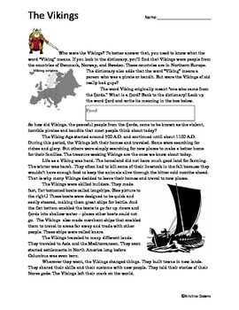 Reading Worksheets The Vikings And Vikings On Pinterest