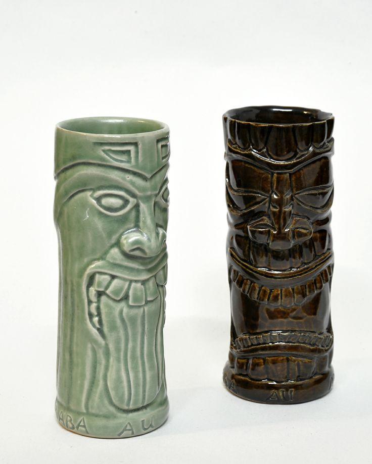 Customized Tiki Mugs for Baba Au Rum.
