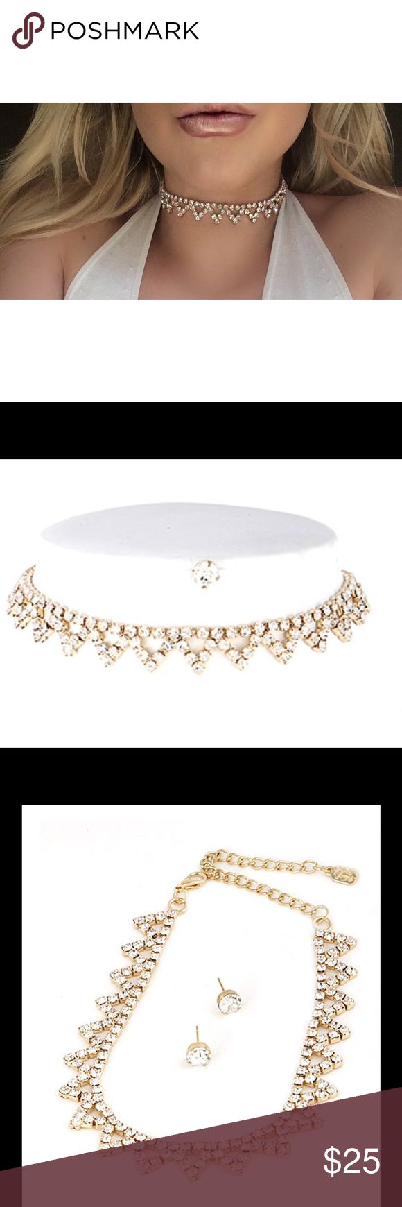 """Princess Choker BNWT Dress to impress with Ms.LadyLike Choker. A choker fit for a Princess, this choker is shiny, complex yet elegant. Choker extends 11""""-17"""" around. SAV Jewelry Necklaces"""