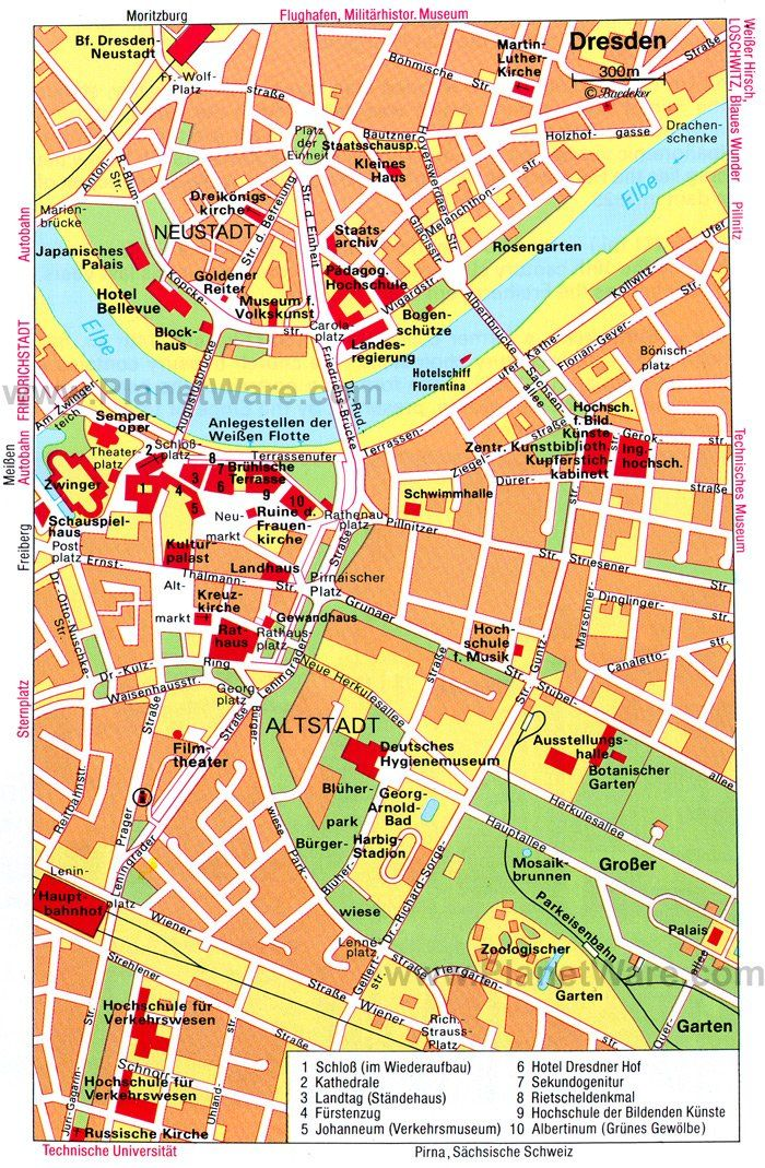 Dresden Map Tourist Attractions Places To Visit Pinterest