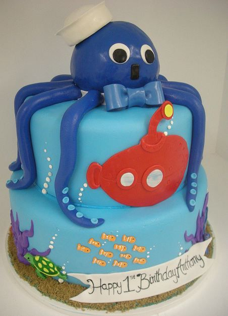 octopus bithday cake