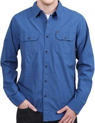 Quiksilver Men's Trip Long Seeve Button Down Flap Pocket Navy Blue Shirt    List Price: $58.00  Price: $39.99