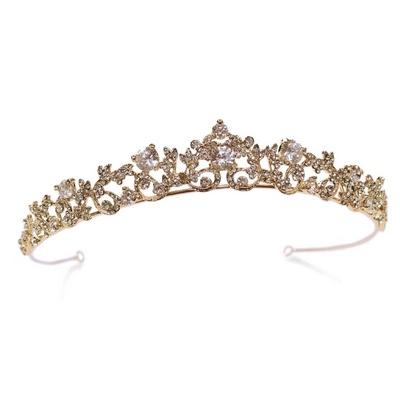 White and Gold Wedding Crown Loveloveloveee
