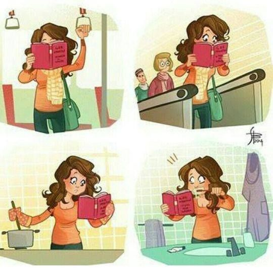 When you can't put your book down even for one second! :-)