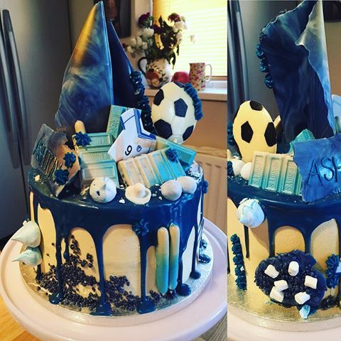 Boy Drip Cake Drip Cake For A Football Crazy Boy Inside