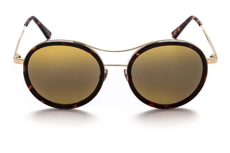 ROSO Dark Chocolate Tortoiseshell Aviator style unisex sunglasses from SUNDAY SOMEWHERE