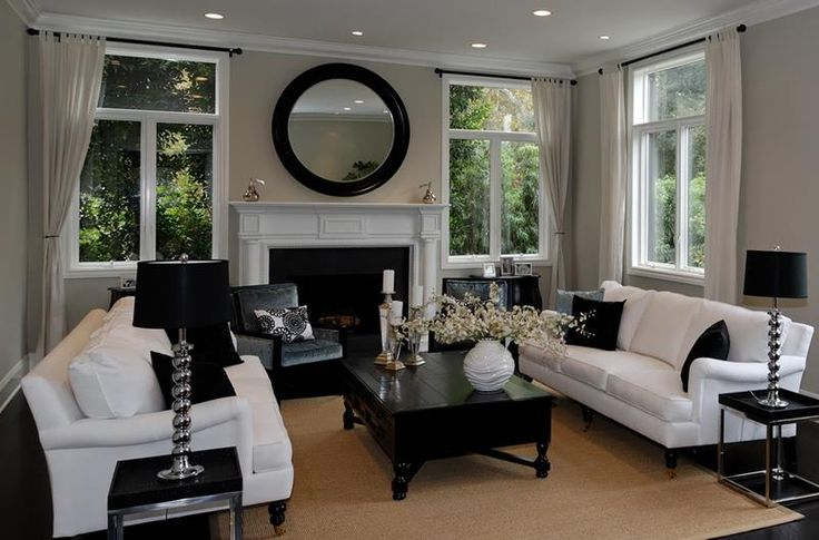 Black and White - 23 Stunning Living Rooms with Crown Molding