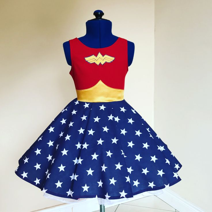 Wonder Woman dress , lajupemix , kids fashion , kids dress , captain America dress