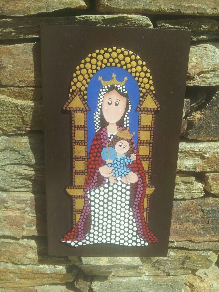 Virgen de Coromoto. Técnica de puntillismo