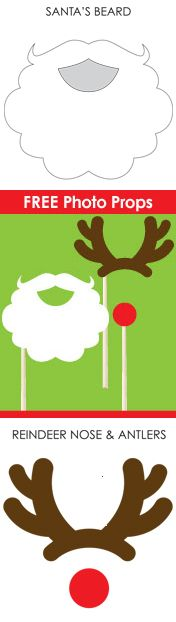 Free printable holiday photo props! http://hipbaby.com/holiday-photo-props.pdf #photo #templates