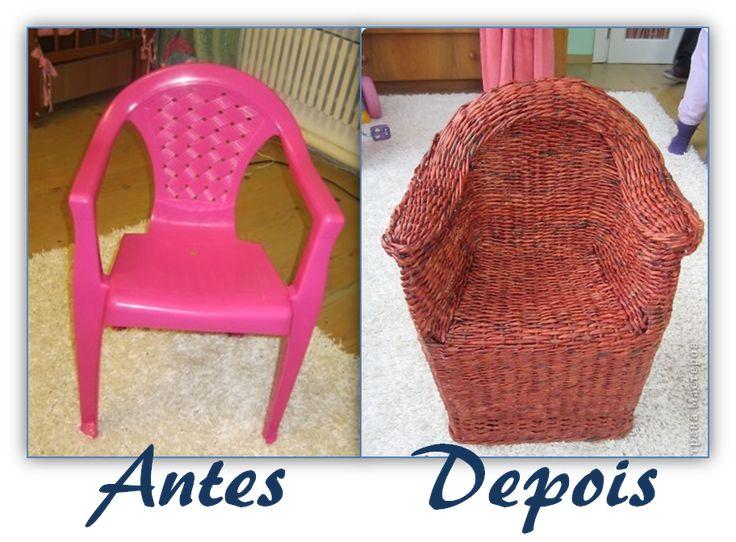 Reciclagem com Jornal: Cadeira vira Poltrona - Cores da Casa
