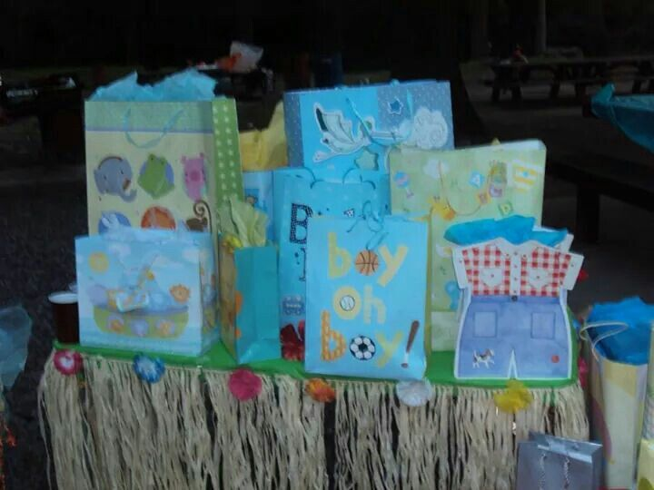 12 best hawaiian theme baby shower images on pinterest hawaiian gift table baby shower negle Gallery