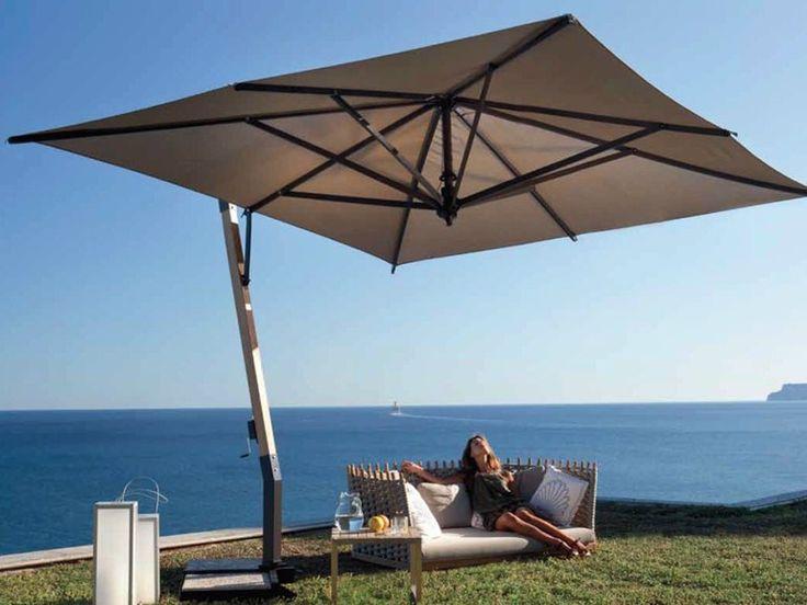 offset wooden garden umbrella capri wood offset collection by fim patio umbrellas