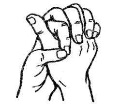 При простудных заболеваниях, кашле, гайморите, пневмонии Чтобы активизировать иммунную систему, соедини ладони вместе, пальцы скрести между собой. Большой палец одной руки отставь и сделай вокруг него кольцо указательным и большим пальцем другой руки.