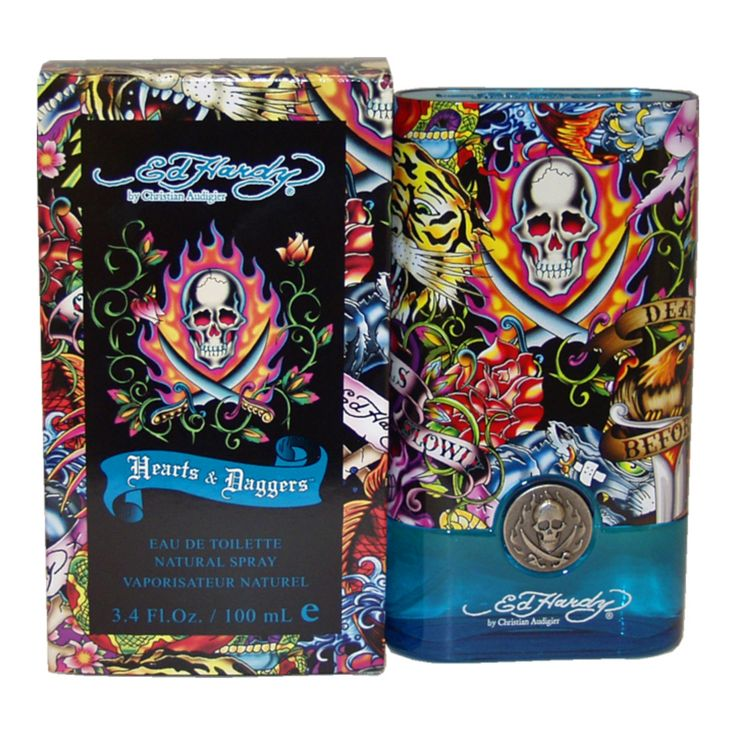 Eau De Toilette Ed Hardy Hearts & Daggers by Christian Audigier for Men 3.4 oz
