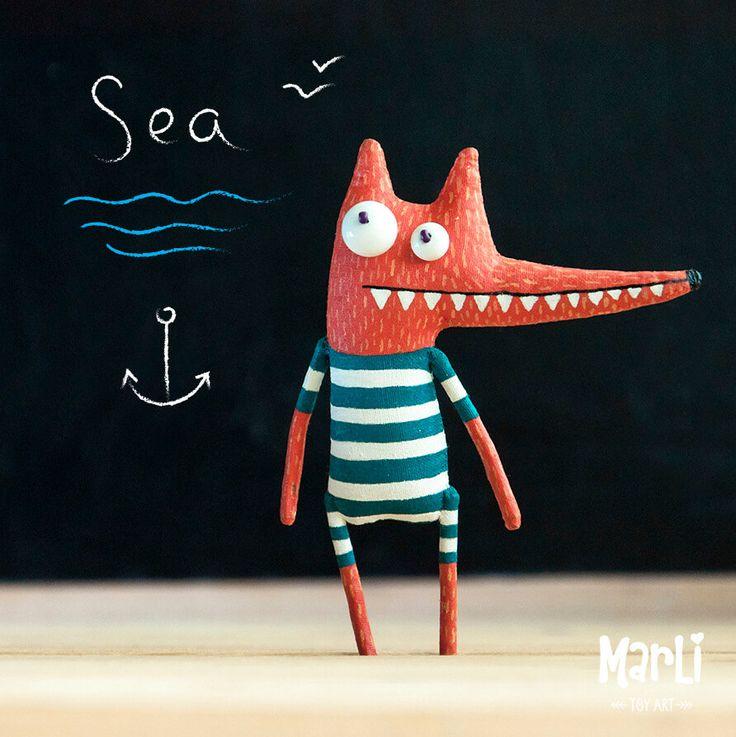 little sea fox by MarLitoys on Etsy