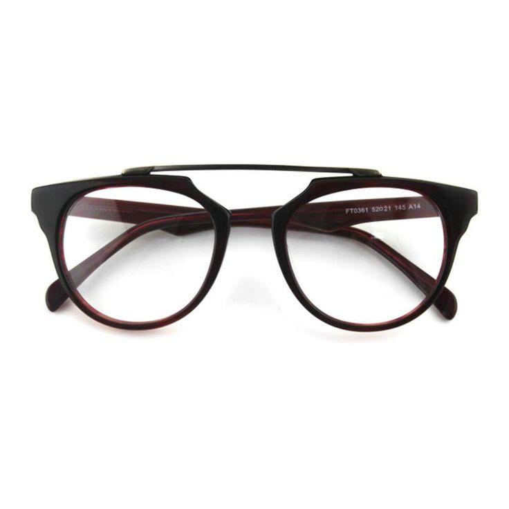 Lights of life Unisex Fashion Retro Eyeglass Frame (A14, 52). Acetate frame. Non-polarized. Lens width: 52 mm.