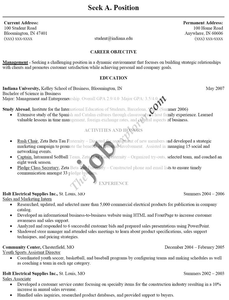 This Is College Resumes Examples Current Student Resume Current