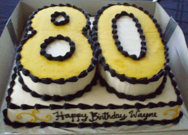 80th Birthday Cake Decorations