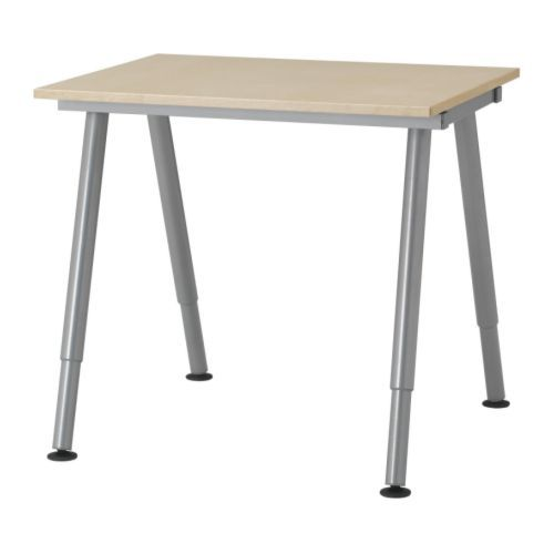 galant desk birch veneer ikea because it has adjustable legs this will make a great chopping table for the kitchen