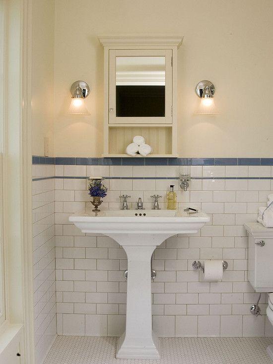 Small Cottage Bathrooms Suzie Bilton Design Group White and blue