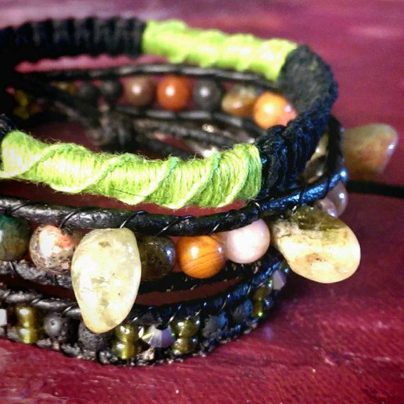 Check out this item in my Etsy shop https://www.etsy.com/ca/listing/285844377/real-leather-triple-wrap-bracelet-with