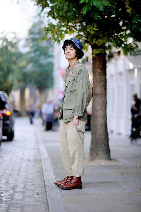 Masa, vintage Jacket and Chinos, London Street Style Fashion. Se 29 okt14