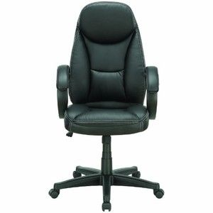 LexMod Trendsetter High Back Ergonomic Executive Office Chair in Black Vinyl