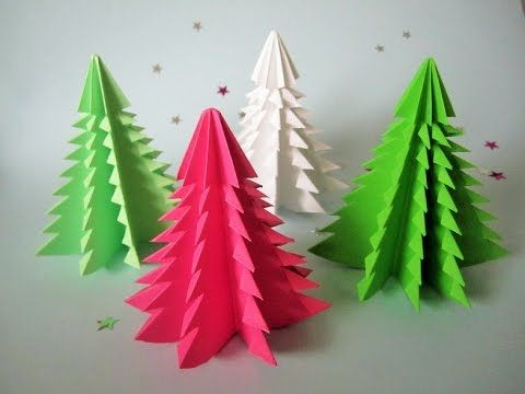 3D Weihnachtsbaum aus Papier in 3 Minuten falten.DIY Papier, My Crafts and DIY Projects