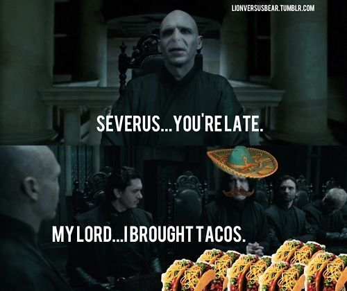 Severus Snape saves the day with Taco's