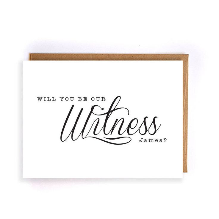 Wedding Witness Gifts: Will You Be Our Witness Wedding Card, Ask Card Gift