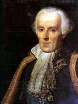 """Pierre-Simon Laplace, one of the originators of the nebular hypothesis. The first step towards a theory of Solar System formation was the general acceptance of heliocentrism, the model which placed the Sun at the centre of the system and the Earth in orbit around it. This conception had been gestating for thousands of years, but was only widely accepted by the end of the 17th century. The first recorded use of the term """"Solar System"""" dates from 1704"""