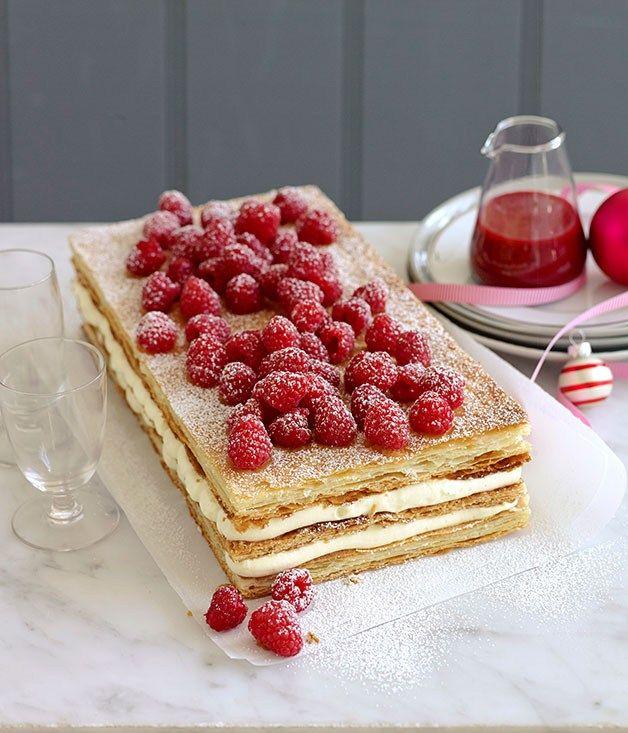 Raspberry millefeuille recipe | Millefeuille recipe - Gourmet Traveller