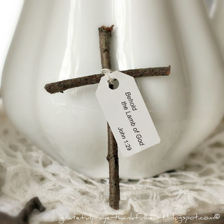 With a Grateful Prayer and a Thankful Heart: Little Wooden Cross from Sticks