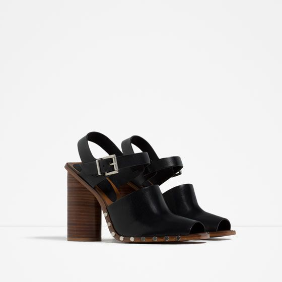 LEATHER STUDDED CLOGS - View all-WOMAN-NEW IN | ZARA Croatia