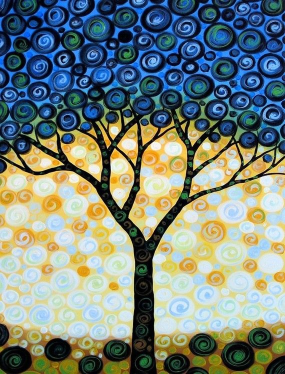 blueberry tree <3Trees Art, Blueberries Trees, Art Paintings, Painting Art, Art Oil, Graphic Art, Tree Paintings, Amy Giacomelli, Trees Painting