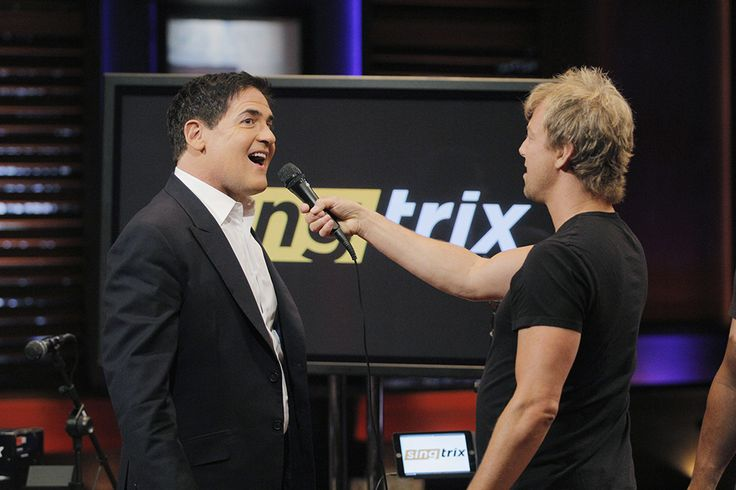 Mark Cuban with #Singtrix belting one out #SharkTank ©(ABC/Tony Rivetti) #sharktankproducts #amazing #instagood  www.singtrix.com
