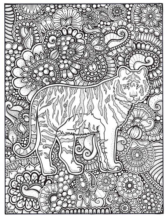 Tiger Coloring Page Coloring Book