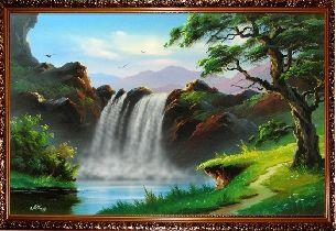 Красивый водопад - Водопады <- Картины маслом <- Интерьер <- VIP - Каталог | Универсальный интернет-магазин подарков и сувениров