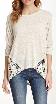 Crochet Inset Sweater ♥