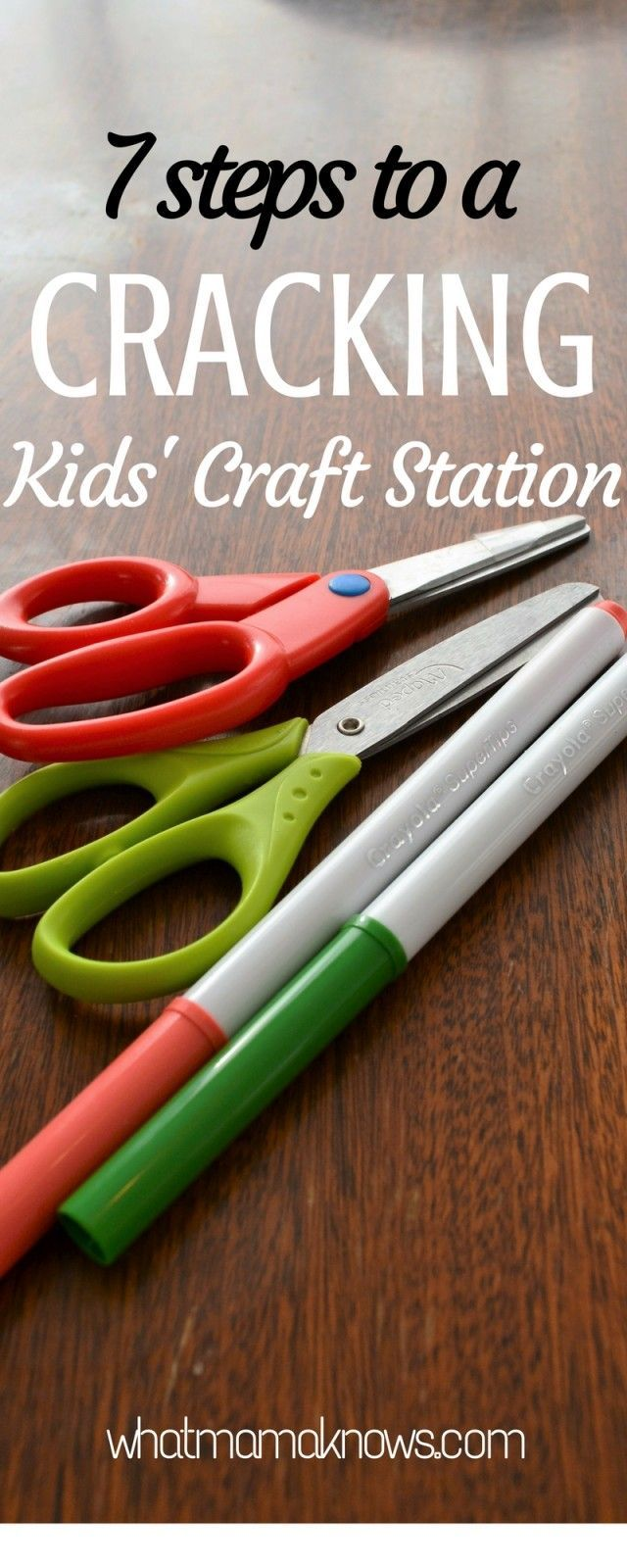 Kids' craft station ideas. Encourage creativity in toddlers and children with ideas for a craft station accessible for kids. Cutting and sticking abounds!