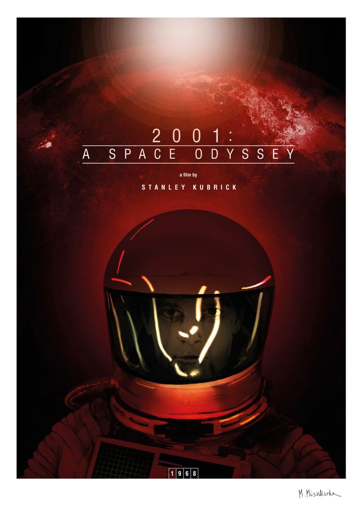 2001: A Space Odyssey. The alternative poster of a movie created by Stanley Kubrick. The  poster signed by the author. (me) by michalmiszkurka on Etsy https://www.etsy.com/listing/217417471/2001-a-space-odyssey-the-alternative